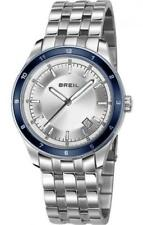 Mens Watch BREIL STRONGER TW1225 Steel Bracelet Blue Silver Sub 100mt