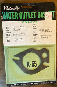 Robertshaw Water Outlet Gasket A-55 Ford, Lincoln, Chevrolet, Buick, Pontiac ect