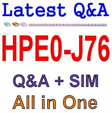 HP Best Practice Material For HPE0-J76 Exam Q&A PDF+SIM