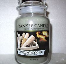 """Yankee Candle """"CRACKLING WOOD FIRE""""  22 oz.~ EUROPEAN RELEASE ~ TAN LABEL ~ NEW"""