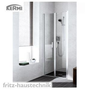 Kermi Liga Pendeltür 90 x 2m Duschabtrennung für Nische Duschkabine ESG