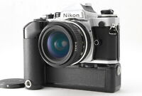 [NEAR MINT] Nikon FE SLR 35mm Film Camera + AI Nikkor 28mm f2.8 MD-11 From JAPAN
