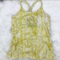 Athleta Women's Size S Yellow Lotus Pavrita Tank Top Athletic Style#819375