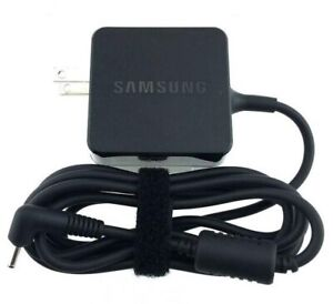Authentic Blk Samsung AC Adapter PA-1250-98 Chromebook Charger  12 V Refurbished