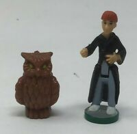 Lot of 2 Harry Potter Polly Pocket Scale  Miniature Figures Ron Weasley & Hedwig