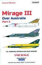 Caracal Decals 1/48 DASSAULT MIRAGE III OVER AUSTRALIA Part 2