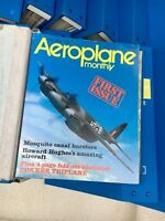 Airplane Monthly magazines 1973-1989 over 200 pieces.Bound,all inserts included.