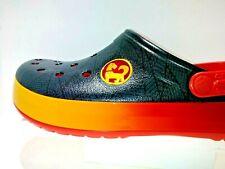 RARE MEN'S  Crocs Crocband  RARE Black/Orange SIZE 10  NEW