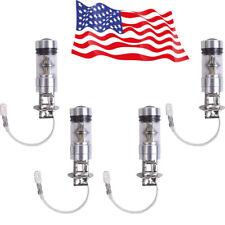 4x H3 100W Bright White LED 20 SMD Fog Light DRL Daytime Driving Lamp Bulbs Sale