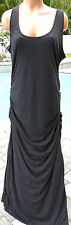 Victorias Secret coverup dress long maxi charcoal gray tank XL stretch ruched