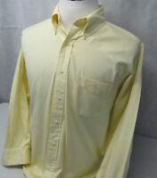 Brooks Brothers Original Polo L/S Button Down Yellow Dress Shirt Mens 16.5 32