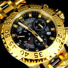 Invicta JT Chaos Gold Plated Steel Jason Taylor Chronograph LE 52mm Watch New