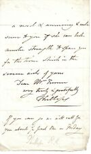 Thomas Phillips - Georgian portrait painter - orig letter re visiting exhibition
