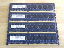 Nanya DDR3 PC3-8500 PC3-8500U 2Rx8 Desktop RAM LOT (4) x 2GB = 8GB