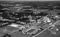 OLD LARGE PHOTO, aerial view of Notre Dame campus, 1960's in South Bend Indiana