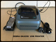 Zebra GK420D Desktop 203DPI Thermal Barcode Label Printer USB & Ethernet