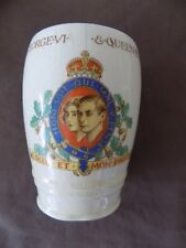 ROYAL COMMEMORATIVE BEAKER – CORONATION – GEORGE VI. 1937, New Hall Pottery