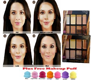 NEW! Party Star 8 Colour Fix Contour Makeup Palette Cream Powder Concealer Kit
