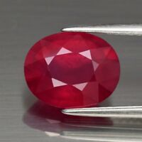 Only! $75.89/1pc 11x9mm Oval Natural Top Red Ruby (Heated Glass Filled)