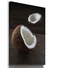 COCONUT PALMS FRUITS KITCHEN FOOD Canvas Wall Art Picture F53 MATAGA