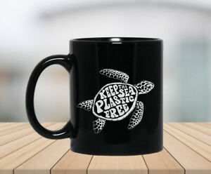 Keep The Sea Plastic Free Cute Sea Turtle Earth Day Coffee Mug