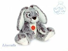 Sitting Floppy Grey/White Bunny Plush Soft Toy by Teddy Hermann Collection.93844