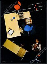 1956 Eero Saarinen chair Florence Knoll modern desk photo Knoll vintage print ad