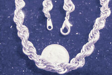 bling sterling silver plated rope chain hip hop necklace thug pimp big dookie ep