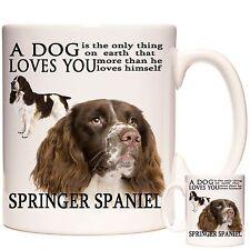Springer Spaniel gift Mug, Matching Coaster Available, Dishwasher Safe, 11oz