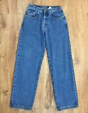 Vtg 90s Calvin Klein Loose Fit Button Fly Jeans Made In USA Junior 5 M Waist 27""