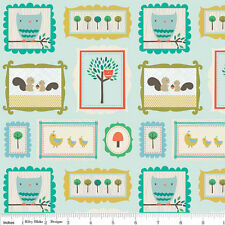 Scenic Route Fabric Riley Blake material baby boy C3661 Blue 100% Cotton animals