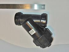 "New 1-1/2""Npt black polypropylene plastic Y-Strainer; #40 Mesh; 1.5 inch polypro"