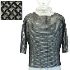Medieval Half Sleeve Habergeon Crusader Templar Blackened Chainmail Medium