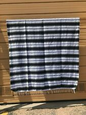 Serape XXL 5' X 7' Mexican Blanket Hot Rod Seat Covers Motorcycle Gray & Black