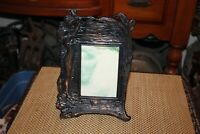 Vintage Art Deco Style Picture Frame Woman Smelling Flowers Metal Frame