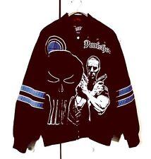 Extreme Marvel The Punisher Frank Castle Snap Button Fighter UFC Jacket Sz XL