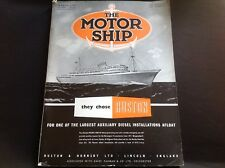 VINTAGE 1955 THE MOTOR SHIP BUILDERS RUSTON 8VLBXZ DIESEL