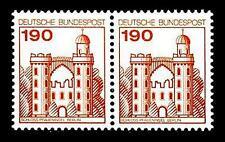 BUND Burgen und Schlösser   190 Pf. ** -  im Paar, postfrisch Luxus