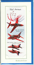 RAF Red Arrows Hawk T1 Gift card with detachable bookmark blank greeting card