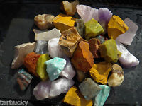 "2 LB AFRICA MIX Large 1"" Bulk Rough Rock Tumbling Tumbler Stones FS"