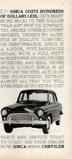 1961 Chrysler Imported Simca   PRINT AD