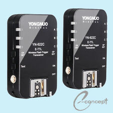 YONGNUO Wireless TTL Flash Trigger YN622 YN-622C High Sync Speed for Canon DLSR