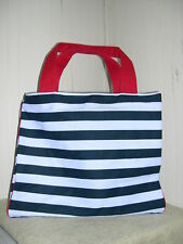 NEW~LANCOME~LARGE BLUE WHITE TOTE BAG~DIAPER~BEACH~NICE