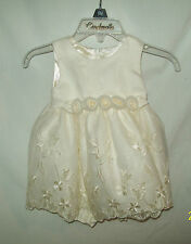 Cinderella Ivory Candlelite Special Occasion Dress Crinolin Slip Panties 6MO NWT