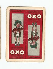 Antique  Collectable Single Advert OXO Scotish Wide Playing Card