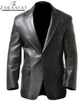 Men's Blazer Coat Jacket Sheepskin Leather 100% Genuine Leather by Zaraafat