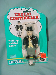 Thomas The Tank Engine Ertl Sealed 1990 New Fat Controller Wind Up Walker Figure