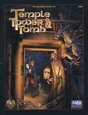 Temple Tower & Tomb Exc+! Ad&D D&D Module Dungeons Dragons Adventure Tsr 9448
