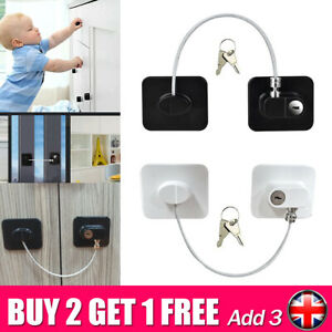 Security Window Cabinets Door UPVC Lock Restrictor Baby Children Safety Cable SY