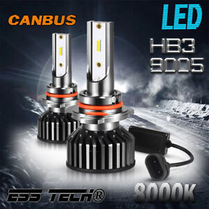 Ampoules HB3 9005 LED 8000K Blanc 12 Volts taille mini adaptable OBD Canbus